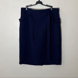 Navy Blue Liz Claiborne ruffle top Skirt